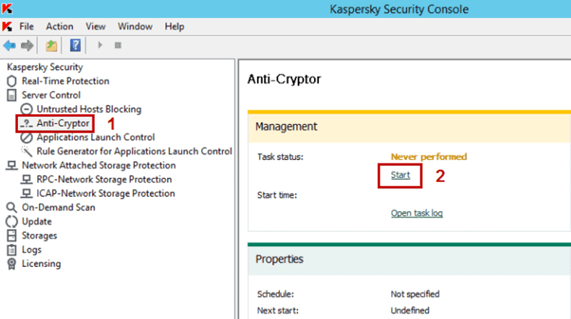 kaspersky server windows